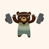 Sport animal bear cartoon elements vector Stock Photo