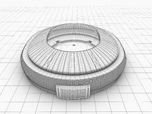 Sport arena. 3d illustration in wireframe view Stock Photos