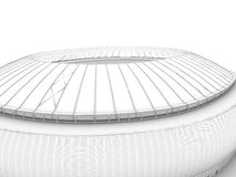 Sport arena. 3d illustration in wireframe view Stock Photography