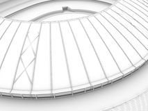 Sport arena. 3d illustration in wireframe view Royalty Free Stock Photography