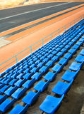 Sport arena seats Royalty Free Stock Photography