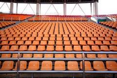 Sport arena seats Royalty Free Stock Photo