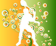 Sport Arty. Simple Illustration for tennis player and colored background Royalty Free Stock Image