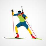 Sport astratto di biathlon Fotografia Stock Libera da Diritti