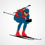 Sport astratto di biathlon Fotografie Stock