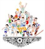Sport athlete illustration Stock Photography