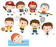 Sport athlete vector set Stock Image