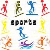 Sport-Athletenikonenmänner ` s Satz Lizenzfreie Stockfotografie