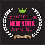 Sport athletic New york champions college football logo emblem. Royalty Free Stock Photo