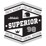 Sport Athletic Superior College t-shirt design for apparel Stock Images