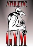 Sport atletische gymnastiek logotype Stock Illustratie