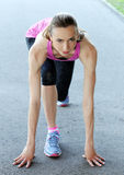 Sport. Attractive girl on the street Royalty Free Stock Photo