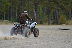 Sport ATV driving Stock Photography