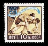 Sport auf Briefmarken lizenzfreie stockfotografie