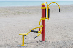 Sport auf dem Strand Stockfotos