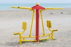 Sport auf dem Strand Lizenzfreies Stockfoto