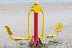 Sport auf dem Strand Stockbilder