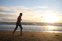 Sport auf dem Strand Lizenzfreie Stockbilder