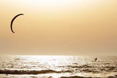 Sport auf Sonnenuntergang Lizenzfreies Stockfoto