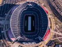 Sport Authority FIeld from above. Looking down on sports authority field. near denver colorado. Taken from DJI Mavic Royalty Free Stock Image