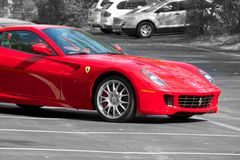 Sport-Auto Ferraris 599 GTB lizenzfreie stockfotos