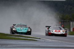 Sport-Auto, Maserati MC12, Lamborghini Stockfoto