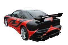 Sport-automobile moderna rossa e nera immagini stock