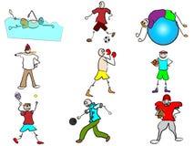 Sport avatars Royalty Free Stock Photography