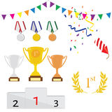Sport award  icon set Royalty Free Stock Images