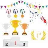 Sport award  icon set Royalty Free Stock Images
