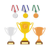 Sport award set Royalty Free Stock Photography