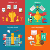Sport Awards Icons Set Royalty Free Stock Photos