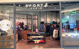 Sport b paris shop in hong kong Royalty Free Stock Image