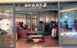 Sport b paris shoppar i Hong Kong Royaltyfri Bild
