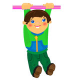 Sport  baby boy illustration.isolated character Royalty Free Stock Photo