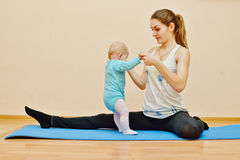 Sport with baby Royalty Free Stock Photography