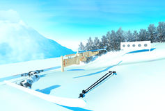 Sport background  with biathlon. Stock Image