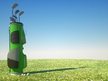Sport background - Golf. 3D image of a generic golf bag Royalty Free Stock Photos