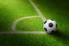 Soccer ball, stadium Stock Photos