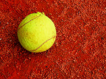 Sport background with tennis ball Royalty Free Stock Images