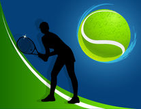 Sport background tennis. woman. vector Royalty Free Stock Image