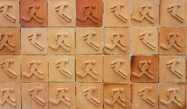 Sport background texture in tile Stock Photos