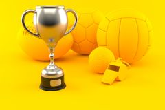 Sport background with trophy royalty free illustration