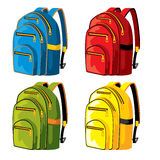 Sport backpacks Stock Photos