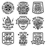 Sport badges. Graphic design for t-shirt Stock Photo