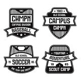 Sport badges. Graphic design for t-shirt Stock Images