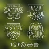 Sport badges and icons Stock Images