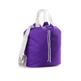 Sport bag. Violet sport bag on a white background. Isolated path included Stock Images