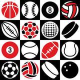 Sport Ball Checkerboard Royalty Free Stock Photos