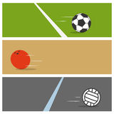 Sport ball collection Stock Images